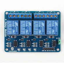 SunFounder 4 Channel 5V Relay Shield Module Board for Arduino UNO 2560 1280 ARM PIC AVR STM32