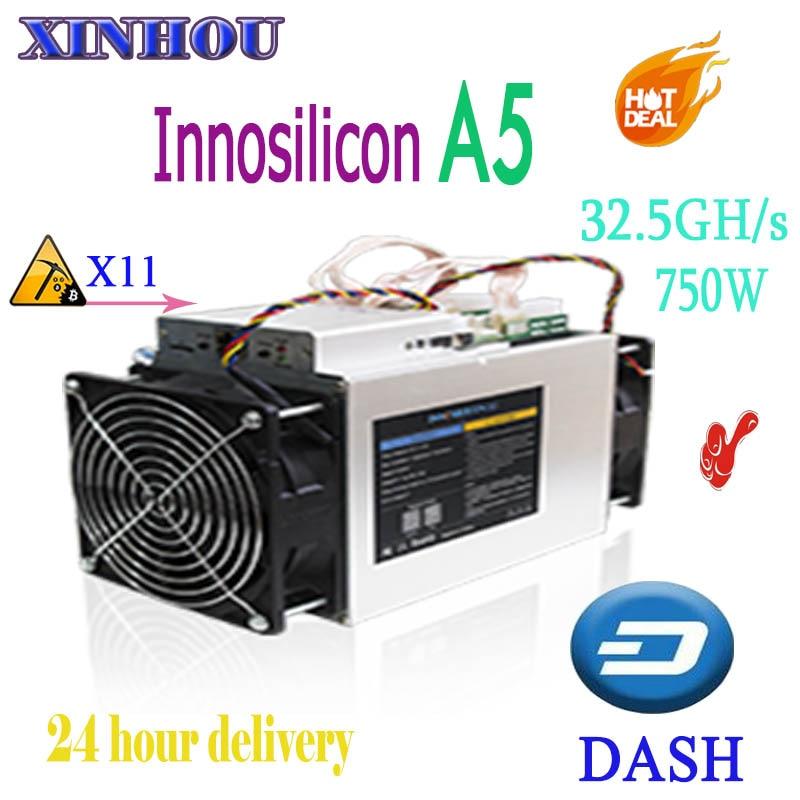 Innosilicon A5 Dashmaster X11 DASH Miner 32.5Gh/S ASIC 750 W plus économique que A7 A5 + A9 Baikal G28 antminer D5 D3 S9 T9 +