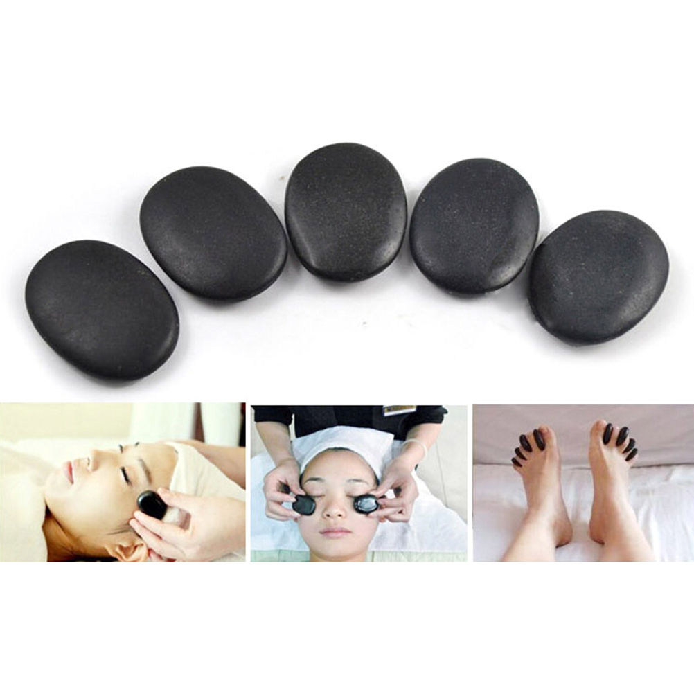 7pcs /lot Massage Stones Massage Lava Natural Energy Massage