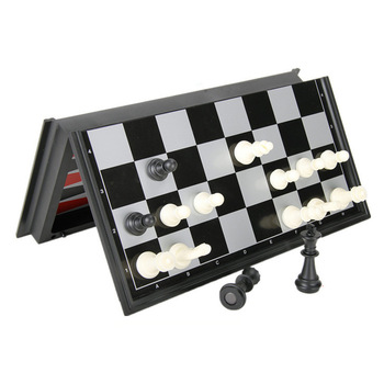 Buy Best Magnetic Chess Backgammon Checkers Set Foldable Board Game 3-in-1 Road International Chess Folding Chess Portable Board Game-
