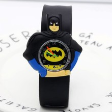 2018 Cute Batman Children Fashion Watches Quartz Wristwatches Jelly Kids Clock b