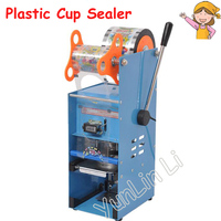 Handle Cup Sealing Machine Bubble Milk Tea Electric Packing Sealer 7cm 9.5cm With Counting Function Hand Pressure Cup Lid ET D9