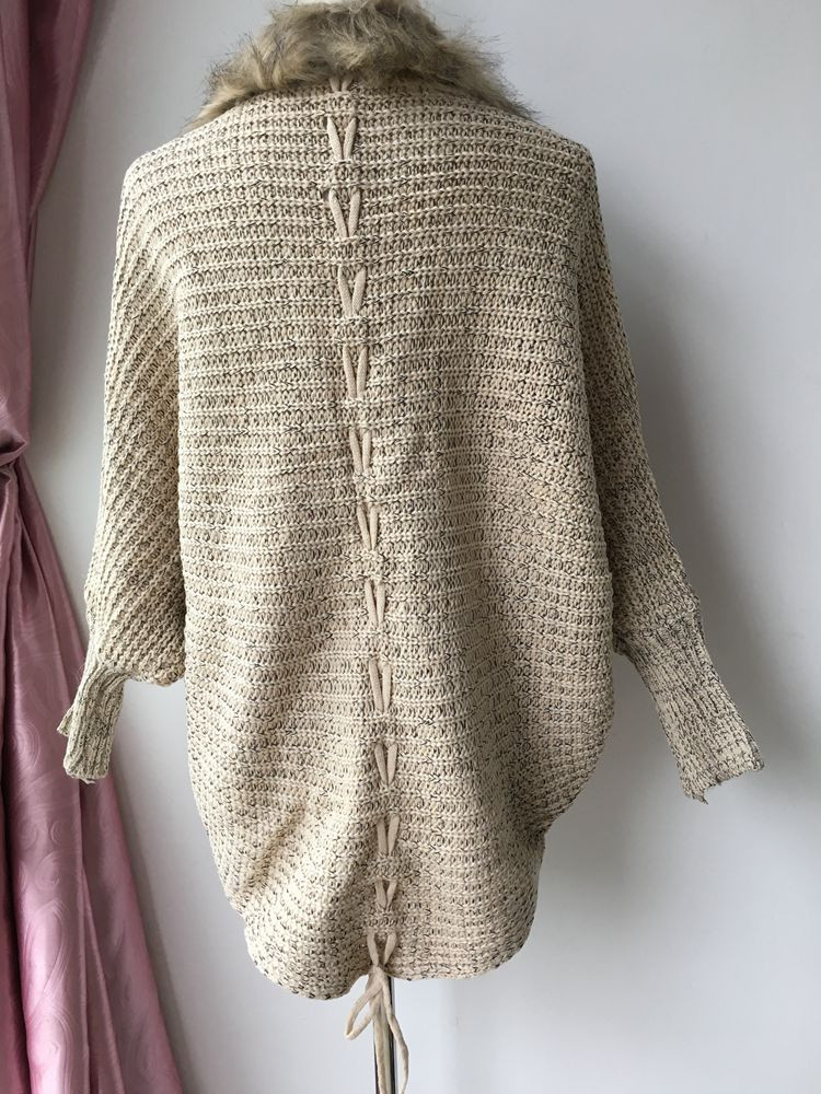lady spring autumn sweater with fur (9)