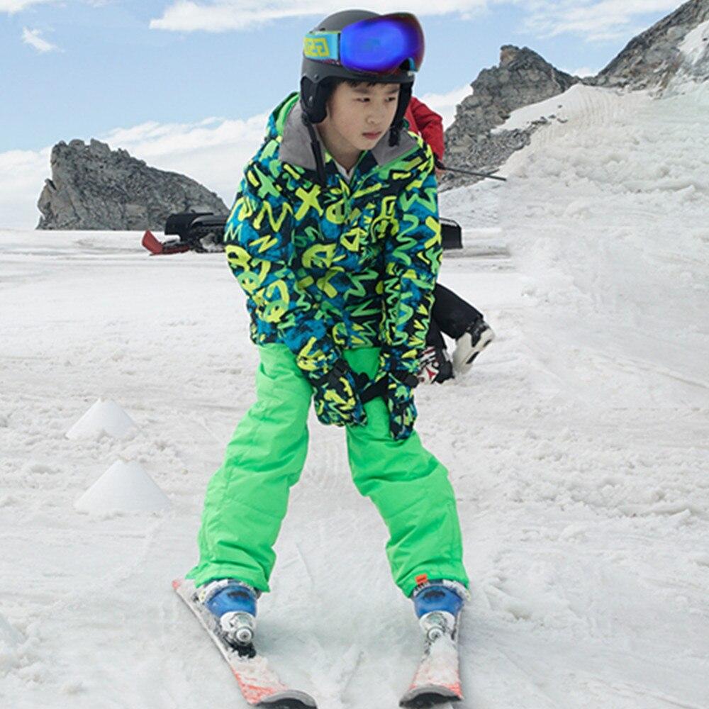 2251f1eceaa8 130cm-170cm Brand Children winter clothing set windproof ski jackets ...