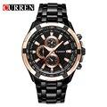 Original mens relógios top marca de luxo curren aço inoxidável relógio de quartzo homens de negócios casuais relógio de pulso relogio masculino
