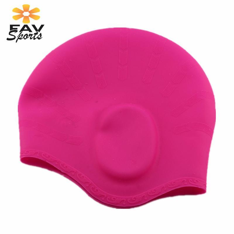 Outdoor Sports Swimming Cap Elastic Waterproof Long Hair Cover Ears Protect Anti-slip Swim Pool Hat for Bonnet De Bain Femme Multan