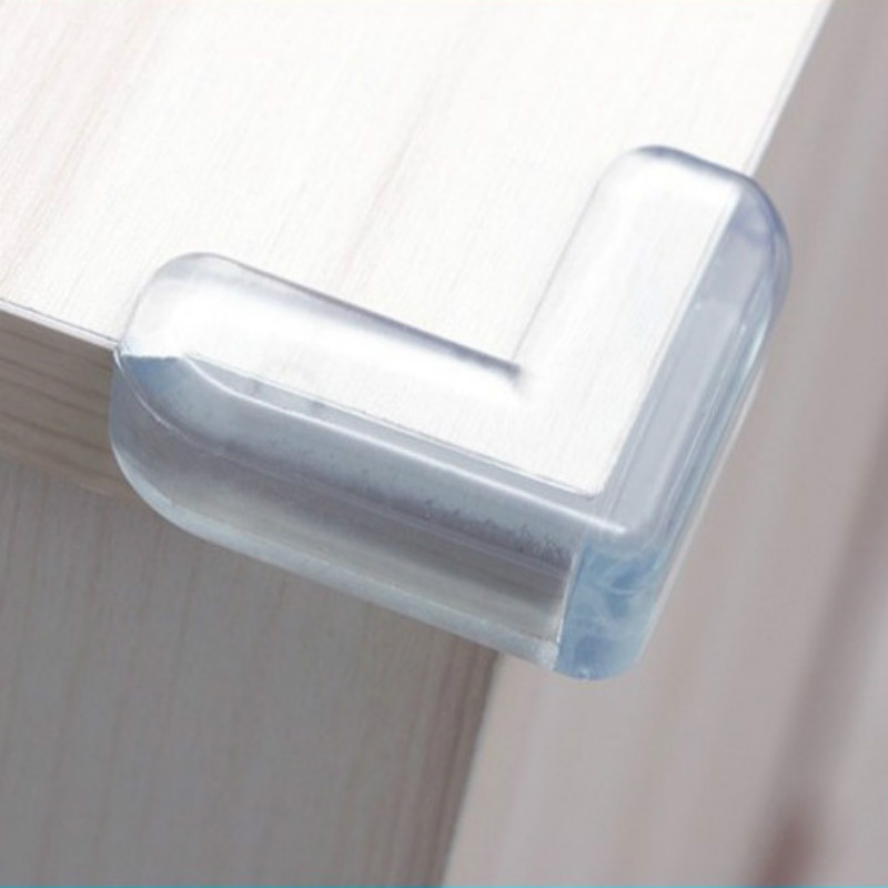 4Pcs/set Baby Safety L Shape Transparent Protector Cover Table Corner Guards Children Protection Furnitures Edge Corner Guards(China)