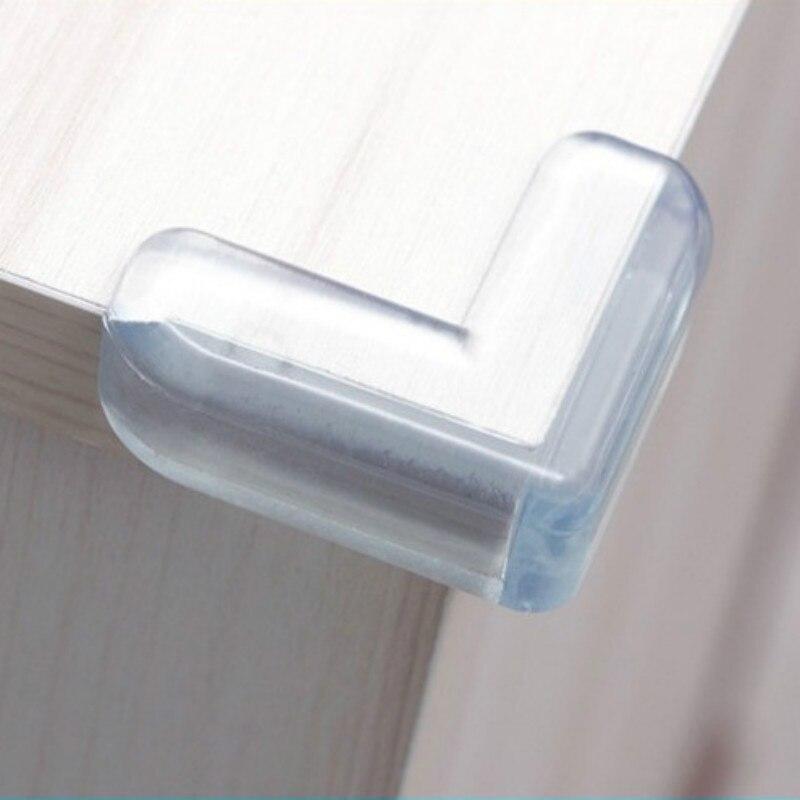 4 יחסט תינוק בטיחות L צורת שקוף מגן כיסוי שולחן פינת משמרות ילדי הגנת רהיטים קצה פינת משמרות