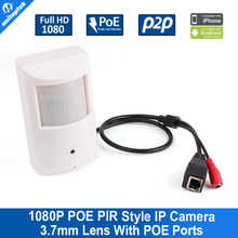 UNITOPTEK PIR Style HD 1080P 2MP IP Camera With POE Realtime Wired Wide View Angle 3.7mm Lens P2P/PC/CMS/Mobile View