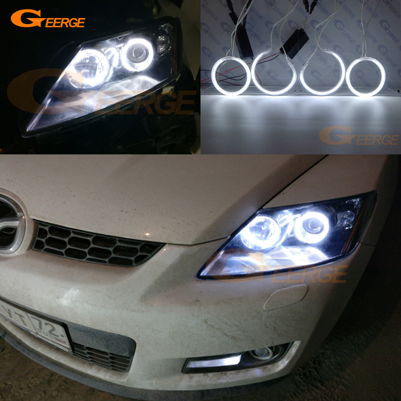 For Mazda CX-7 cx 7 2006 2007 2008 2009 2010 2011 2012 headlight Excellent Ultra bright illumination CCFL Angel Eyes kit for mazda 3 mazda3 bl sp25 mps 2009 2010 2011 2012 2013 excellent ultra bright illumination ccfl angel eyes kit