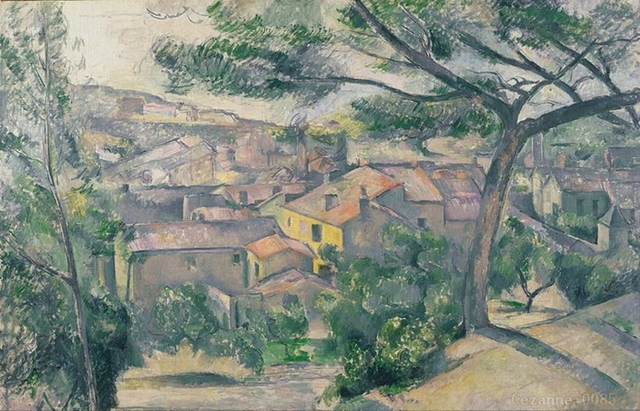 Paul Cezanne En la Orilla del agua 1890 casa pintura