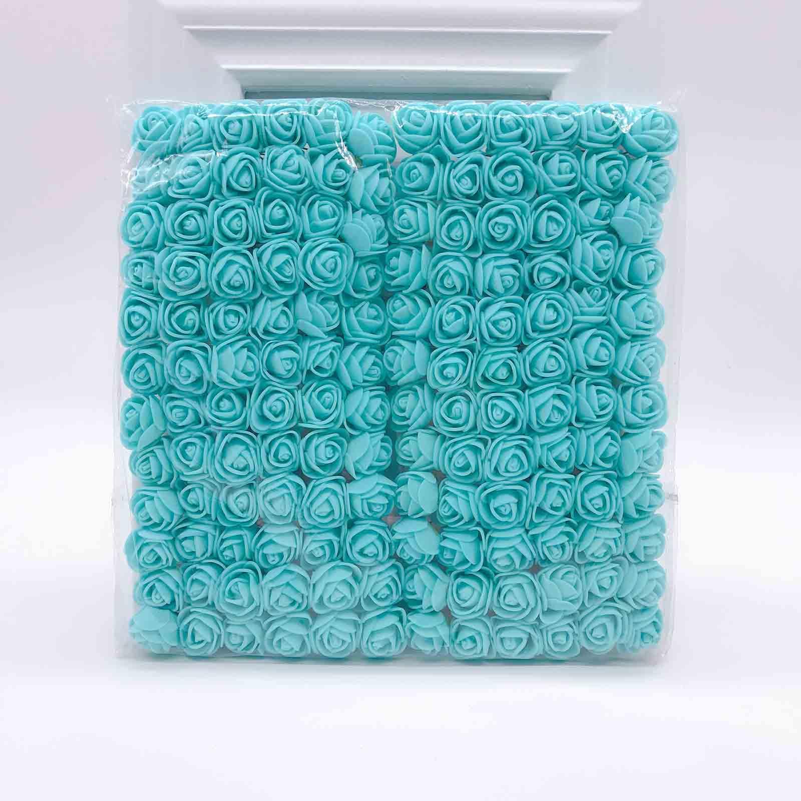 144 шт 2 см мини-розы из пенопласта для дома, свадьбы, искусственные цветы, декорация для скрапбукинга, сделай сам, венок, Подарочная коробка, дешевый искусственный цветок, букет - Цвет: 12
