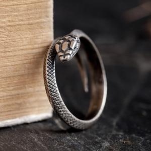 Image 1 - Zavorohin Vintage véritable 925 en argent Sterling ouverture réglable serpent bagues personnalité Animal bijoux comme cadeau