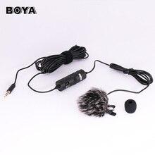 Micrófono ligero boya by-m1 3.5mm micrófono de condensador para smartphones y tablets/dslr/grabadora/videocámaras (envío mini trípode)