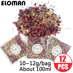 100% natural wedding confetti ELOMAN dried flower petals pop wedding and party decoration biodegradable rose petal confetti(China)
