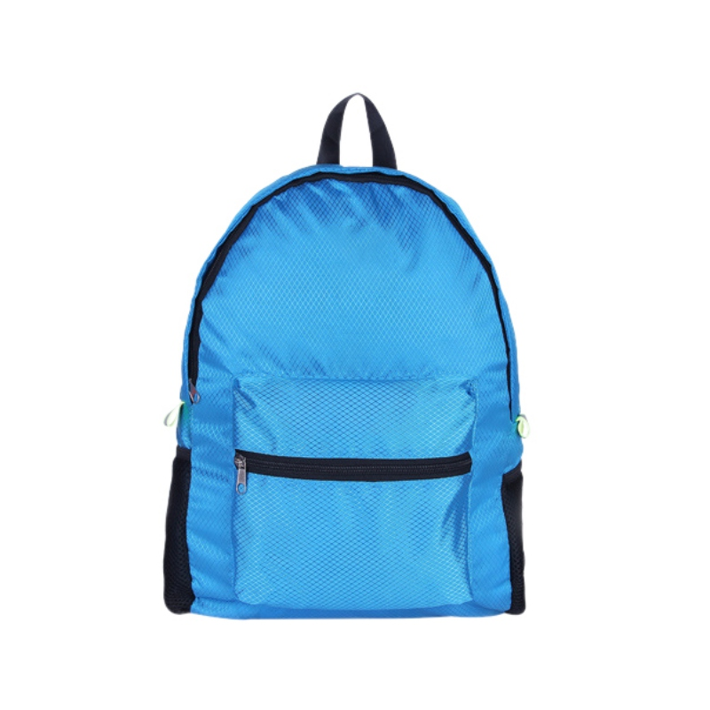 Search For Flights Double Shoulder Backpack Diamond Pattern Large Capacity Nylon Lightweight Folding Waterproof Gym Bag Outdoor Sport Accessories