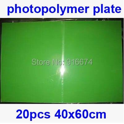Livraison gratuite rapide remise 20 pièces 40 cm x 60 cm plaque photopolymère timbre faisant bricolage typographie polymère timbre fabricant Systerm