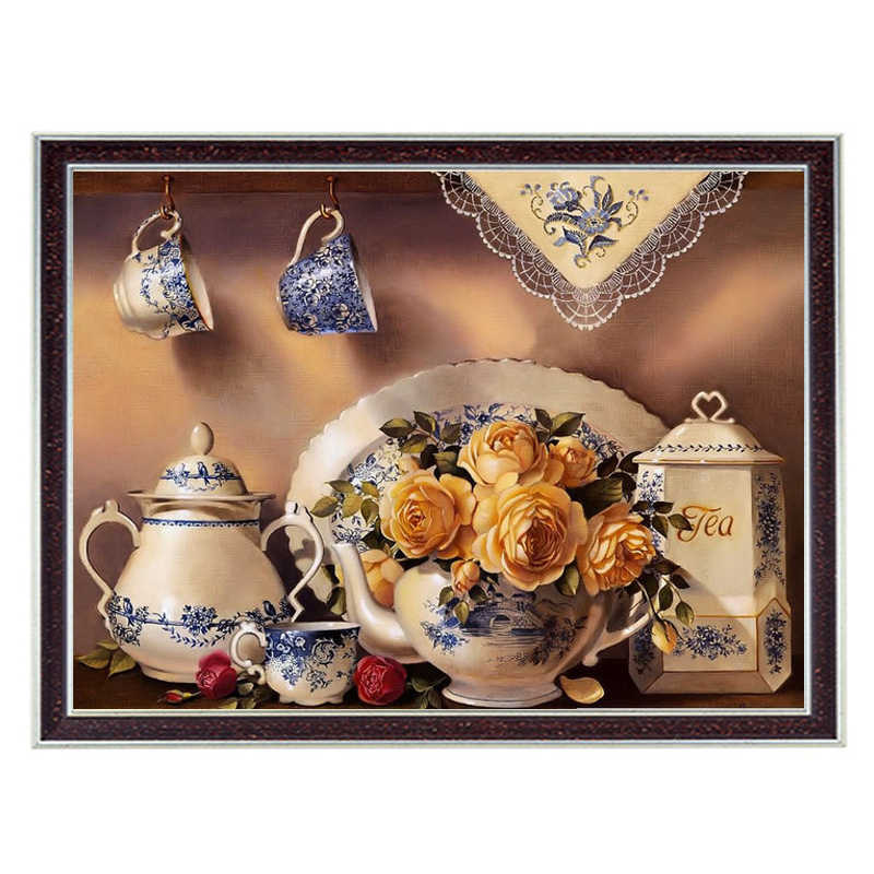 Home decor Needlework Crafts & Gift 14CT unprinted embroidery French DMC Quality Counted Cross Stitch Kit Oil painting Cozy mood