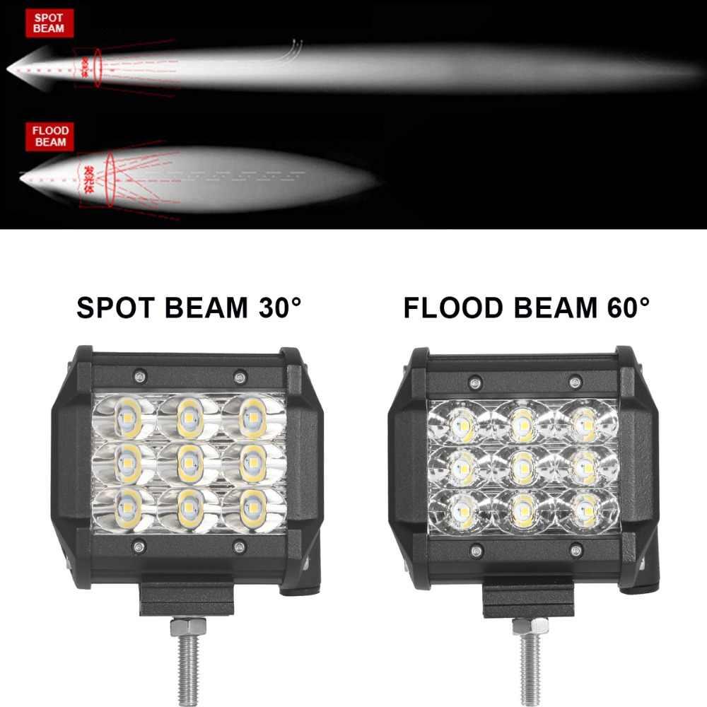 Внедорожных 4 дюйма светодиодный рабочий свет фара ближнего света автомобиль внедорожник Грузовик Пикап для автомобилей и мотоциклов автомобиля 12 V 24 V дополнительной белой фар дальнего света