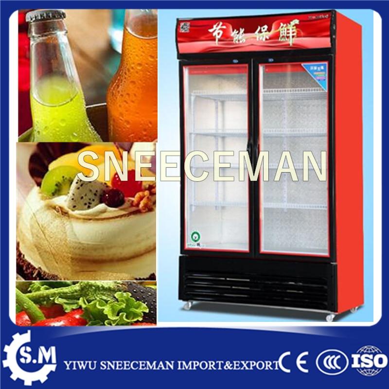 Double Doors Upright Beverage Direct Cooling Vertical Cabinet For Cooler