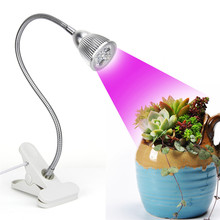 5W LED Clip Desk Grow Lamp LED Growing Lights with 360 Degree Flexible Gooseneck for Office Home Indoor Garden Greenhouse Plant