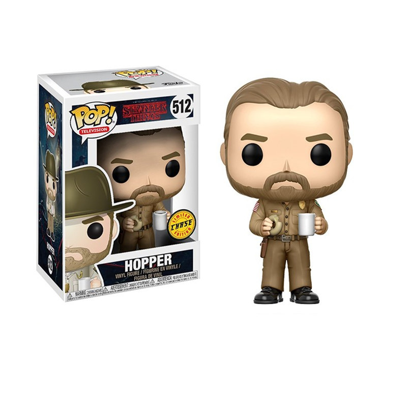 Funko POP Stranger things & HOPPER PVC Action Figure toys birthday Gift
