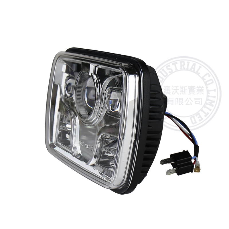 Square 5x7 60w Car Led Motorcycle Headlight Reflectors 12v Driving