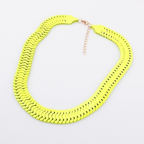 new fluorescence party necklaces & pendants fashion chains necklaces for women 2014 wholesale jewelry(4 color)