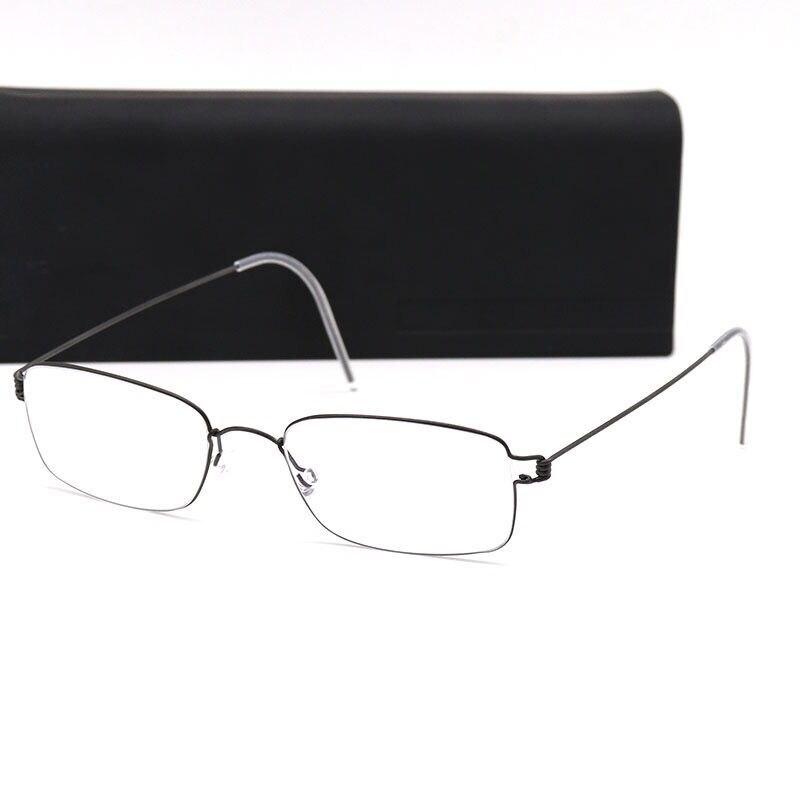 New fashion high quality square frame screwless Ultra light myopia Optical spectacle frame Oculos De Grau with original case