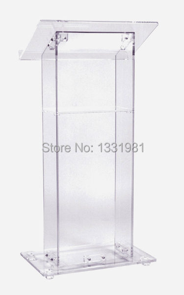 Free Shipping Detachable  Plexiglass Dais / Acrylic School Lectern / Church Rostrum Customized Acrylic Lectern Acrylic Podium