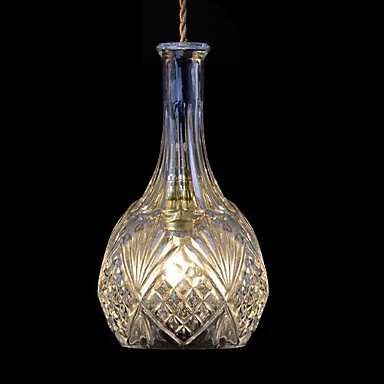 Bottle Shape Hanging Modern LED Pendant Light Fixtures For Home Lighting, Luminaria Lustres E Pendente De Sala 50cm aluminium luz pendente modern lamp designs ph artichoke pendant lights for home white luminaria 110v 220v