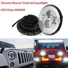 "7"" LED Headlight for Harley Davidson Motorcycle Chrome Projector Daymaker LED Light Bulb Jeeps Wrangler LED Headlamp"