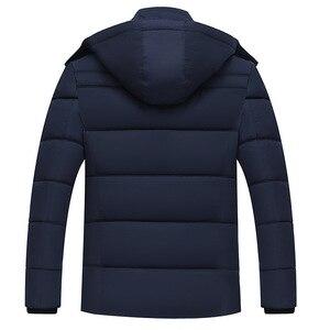 Image 2 - Erkek Kış Kalın Polar Aşağı Ceket Yeni 2018 Kapşonlu Palto Rahat Kalın Aşağı Parka Erkek Ince Rahat Pamuk yastıklı Mont XL 4XL