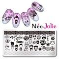 Nee Jolie Plantilla del Sello Del Arte Del Estilo de Japón del Diseño del Rectángulo de 12*6 cm Placa de la Imagen NJX-005