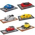 Dr estrella pequeño modelo de coche juguetes de construcción modelo de coche diy micro ladrillos Subasta Pequeño Regalo Del Muchacho Del Coche Famoso Figuras Juguetes Para Niños Juguetes
