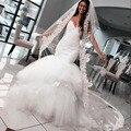 2017 Сексуальная Русалка Свадебные Платья паффи бретельках 2016 спинки Свадебные Платья Свадебные Платья Casamento bruidsjurken