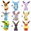 20CM Umbreon Eevee Espeon Jolteon Vaporeon Flareon Glaceon Leafeon Animals Stuffed Doll Kawaii Anime Pikachu Plush Toys Gifts