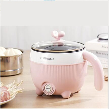 220V Multifunction Electric Cooking Pot Household Mini Cooking Machine Non-stick /Stainless Steel Inner Available Multi Cooker Appliances Consumer Electronics