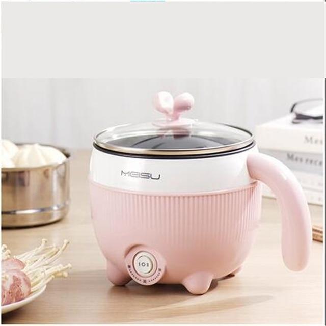 Casserole électrique multifonction 220V, Mini casserole pour la cuisine domestique, antiadhésive/en acier inoxydable, multi cuiseur disponible à lintérieur