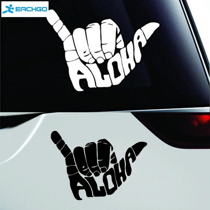 2016 Car Styling Fashion Vinyl Stickers Aloha Shaka Hand Symbol Decal Funny Car Sticker Car Motorcycle Accessories black/white Головная гарнитура