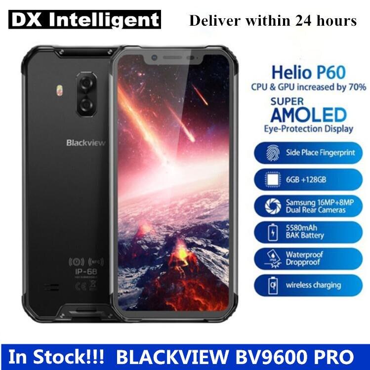 BLACKVIEW BV9600 Pro 6 GB 128 GB Helio P60 Octa Core IP68 Étanche Robuste 6.21 FHD AMOLED 16MP 5580 mAh D'empreintes Digitales téléphone portable