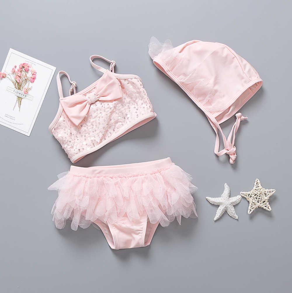 6c6c2b1c2b29f ... 2019 New Summer Baby Swimwear Kids Girl Swimsuit Two pieces Children  Bikini Set Bathing Suit Pink ...