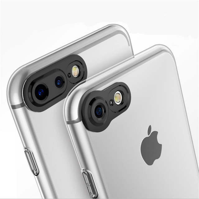brand new aa17d f2800 US $2.92 |3D Camera Protection case for iPhone 6 6S 7 Plus all available  Black Aperture Around Design 100% perfect protect the camera-in Fitted  Cases ...