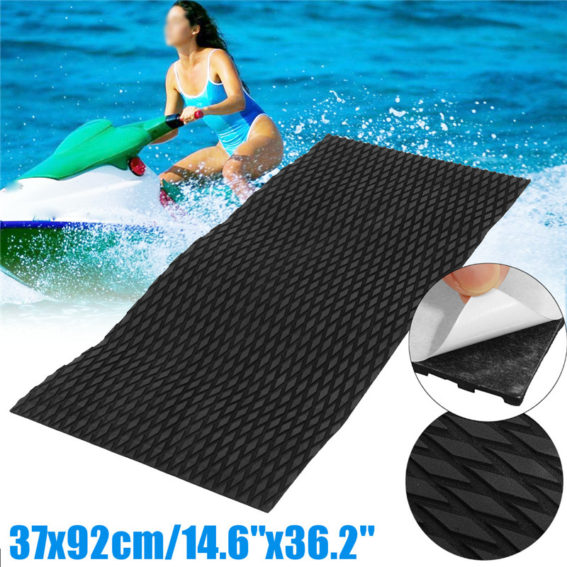 Foam-Sheet Surfboard-Mat Watercraft Skis-Slip Flooring Jet-Ski Black Synthetic 37x92cm