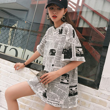d0c5f6d07 Novas marcas de moda estilo das Mulheres Roupas de verão o-pescoço longo  T-shirt bf Fêmea solta ins hip hop t-shirt de impressão.