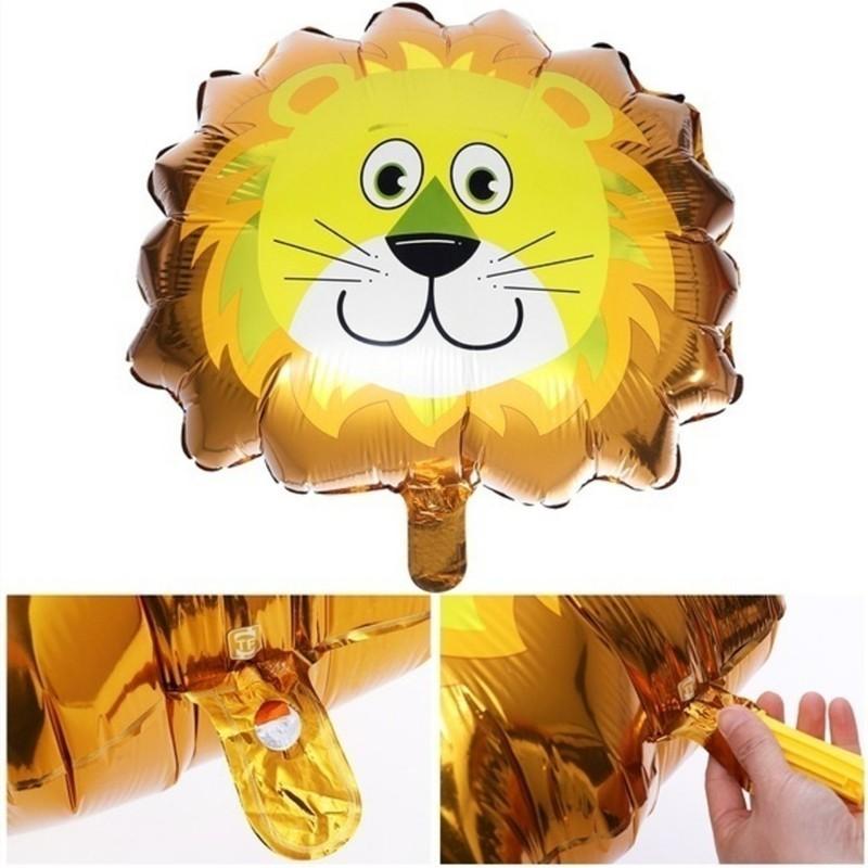 1pc Large Animal Foil Balloons Lion Tiger Monkey Zebra giraffe Cow Globos Birthday Party Decorations Kids Children's Party Gift