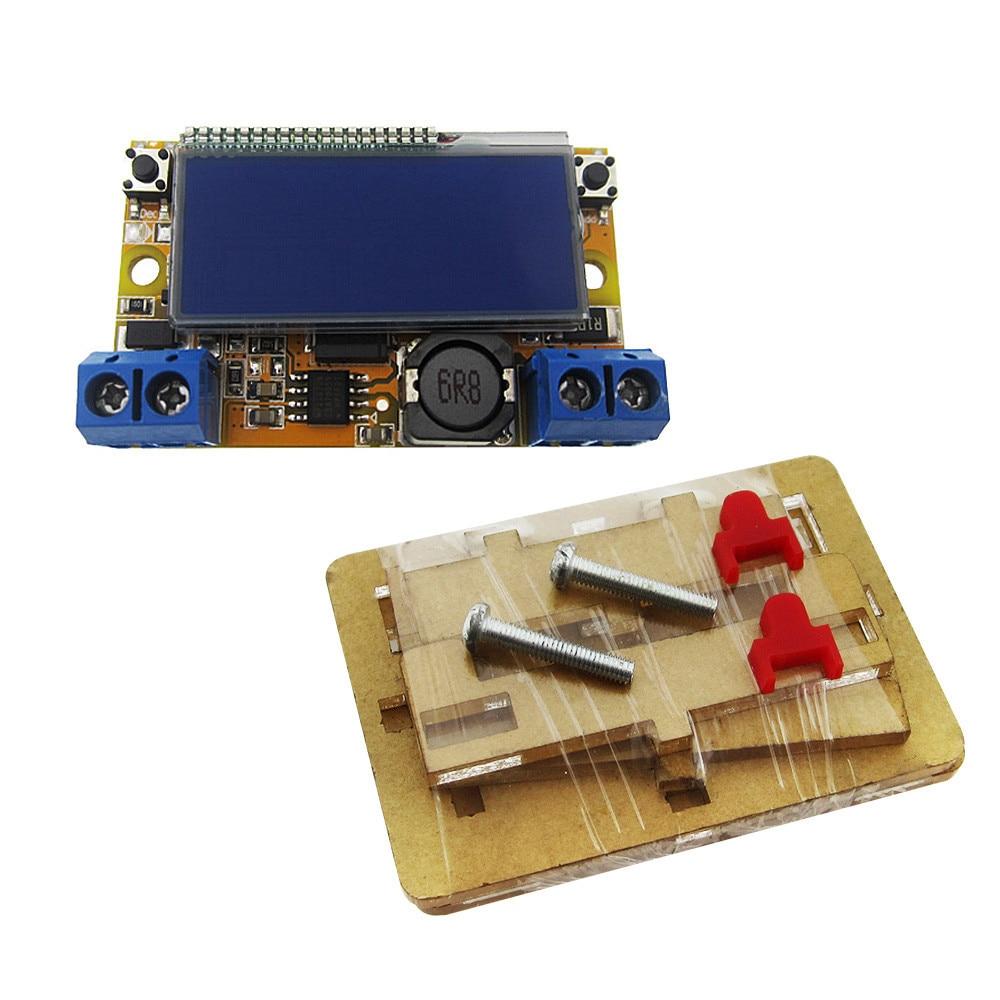 LCD Adjustable Power Step-down Module DC-DC Stepdown Charge DIY Kit LED Driver for Voltmeter Ammeter Peak Current Adjustment lm2596 lm2596s led voltmeter dc dc step down step down adjustable power supply module with digital display for arduino diy kit