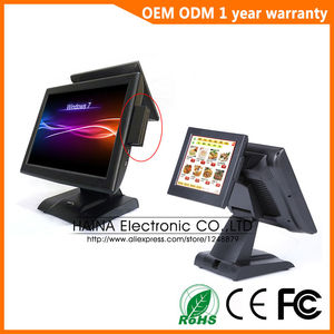 Image 1 - Haina Touch 15 inch Dual Screen POS Machine Touch Screen Restaurant POS Systeem