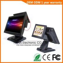 Haina Touch Machine de point de vente à double écran tactile de 15 pouces, système de point de vente pour Restaurant