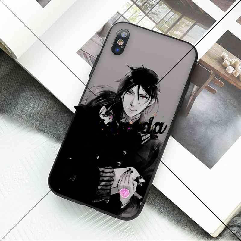 Yinuoda Anime Nhật Bản Đen Butler Kuroshitsuji Silicone Mềm Ốp Lưng Điện Thoại Cho Iphone X XS Max 6 6S 7 7 Plus 8 8Plus 5 5S XR